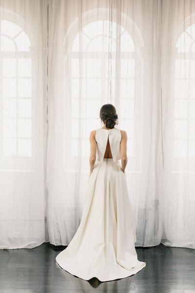 Split Back - Modern and Elegant Two-Piece Wedding Dresses - Photos