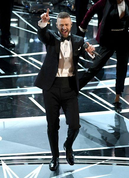 Singer/actor Justin Timberlake performs onstage during the 89th Annual Academy Awards at Hollywood & Highland Center on February 26, 2017 in Hollywood, California.