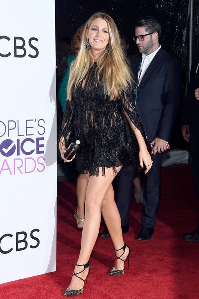 Actress Blake Lively attends the People's Choice Awards 2017.