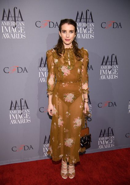 Emma Roberts arrives at the American Apparel & Footwear Association's 39th Annual American Image Awards 2017 on April 24, 2017 in New York City.