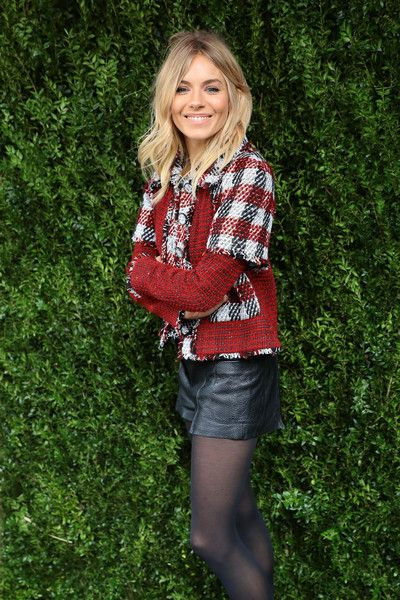Sienna Miller is seen rocking plaid in NYC.