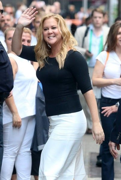 Amy Schumer makes an appearance on 'Good Morning America' at ABC Studios in New York City.
