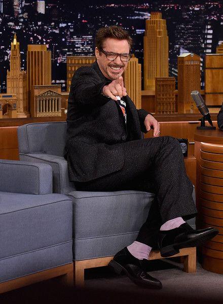 Robert Downey Jr. visits 'The Tonight Show Starring Jimmy Fallon' at Rockefeller Center.