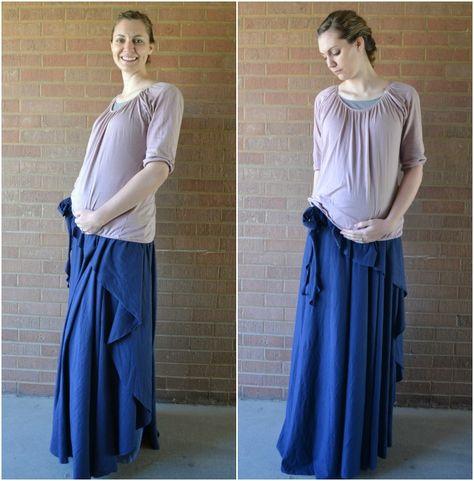 Как скроить юбку для беременных своими руками 31