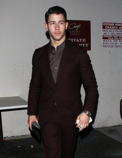 Nick Jonas enjoys a night out at Craig's in West Hollywood.