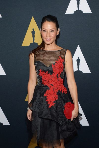 Actress Lucy Liu arrives at the Academy of Motion Picture Arts and Sciences 43rd Student Academy Awards.