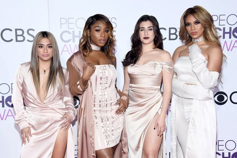 Recording artists Ally Brooke, Normani Kordei, Lauren Jauregui, and Dinah Jane of music group Fifth Harmony attend the People's Choice Awards 2017.