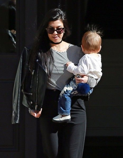 Reality star and busy mom Kourtney Kardashian takes her son Reign to a music class in Beverly Hills, California on February 4, 2016. Kourtney was recently spotted packing on the PDA with her ex partner Scott Disick which ignited rumors that the pair might be getting back together.