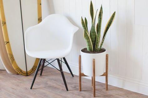 Mid-Century Inspired Plant Stand - Furniture Refurnishing DIYs - Photos