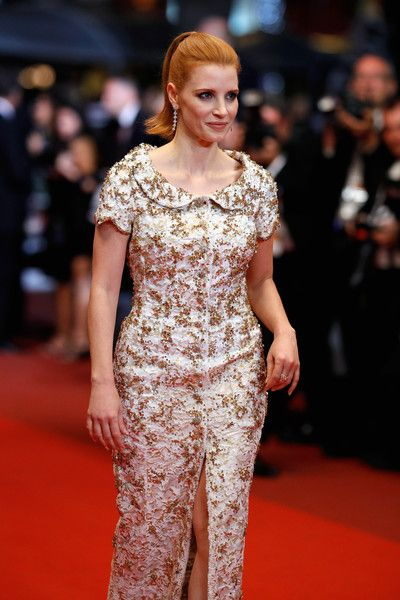"Jessica Chastain attends the ""In The Fade (Aus Dem Nichts)"" premiere during the 70th annual Cannes Film Festival at Palais des Festivals on May 26, 2017 in Cannes, France."