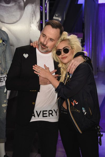 David Furnish and Lady Gaga attend the Love Bravery by Lady Gaga and Elton John Launch at Macy's.