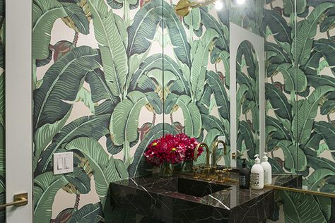 Banana Leaf Bathroom - This Is The Most Beautiful Waiting Room We've Ever Seen - Photos