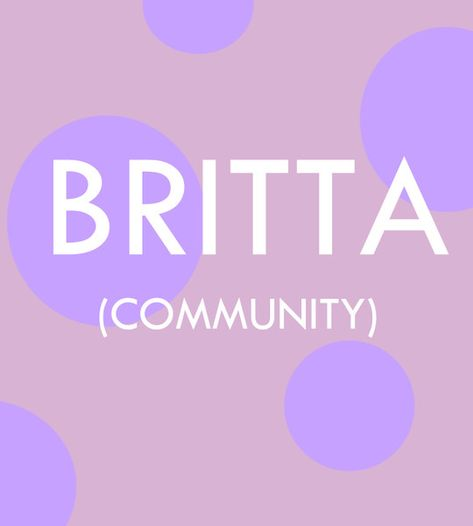 Britta - Pop Culture Baby Names for Girls  - Photos