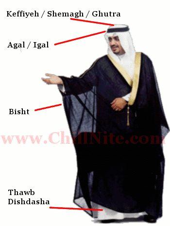 Название одежд арабов