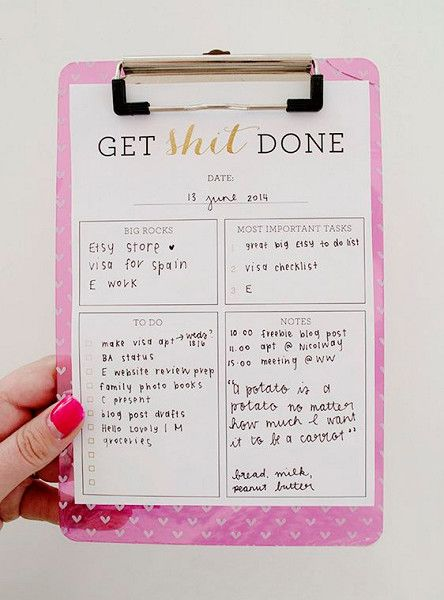 Get Shit Done! - Fun Honey-Do Lists That Will Make Chores a Little Less Painful - Photos