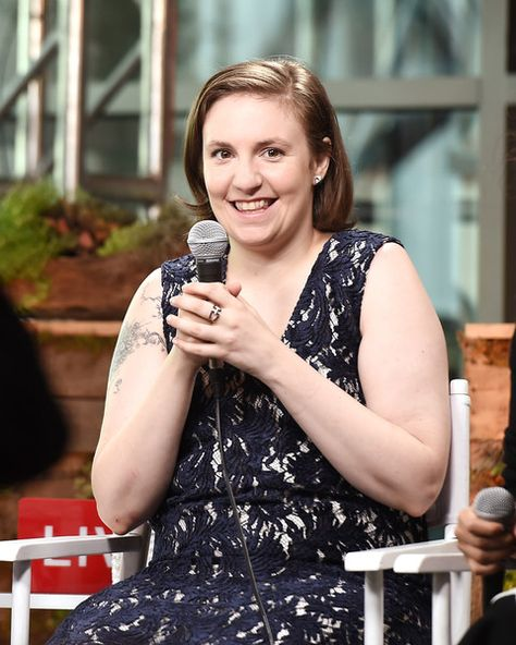 Lena Dunham speaks as Glamour and Facebook Host a Conversation With Cindi Leive, Chelsea Clinton, Lena Dunham, & America Ferrera at The Democratic National Convention.