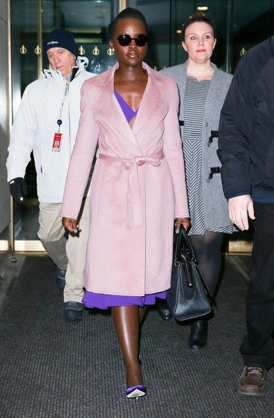Lupita Nyong'o leaves the 'Today' Show after a special appearance.