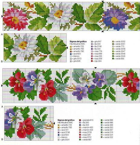 Вышивки из бисера схемы цветы 66