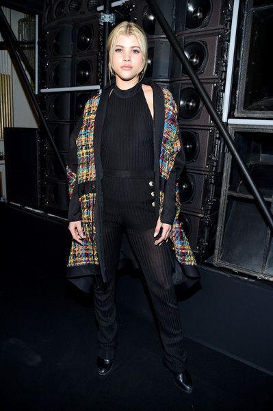 Sofia Richie attends the Balmain Menswear Fall/Winter 2017-2018 show as part of Paris Fashion Week.