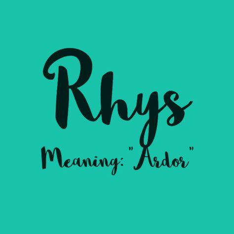 Rhys - European Boy Names That Are On the Rise  - Photos