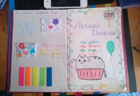 Как сделать личный дневник для девочек фото 432