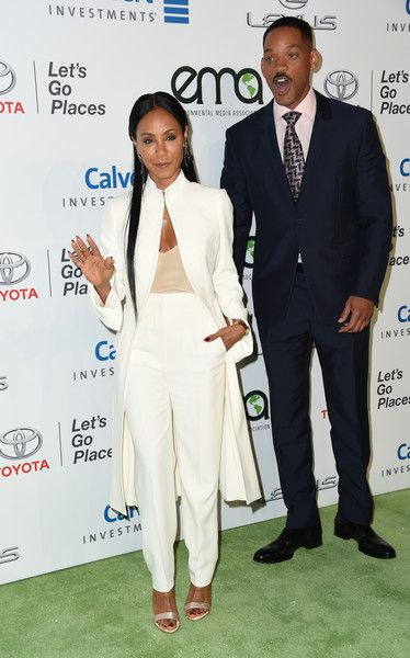 Jada Pinkett-Smith and Will Smith attend the 26th annual EMA Awards at Warner Bros studio lot in Burbank.