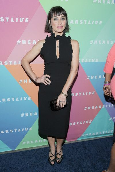 Actress Constance Zimmer attends the Hearst launch of HearstLive, a multimedia news installation, at 57th Street & 8th Avenue on September 27, 2016 in New York City.
