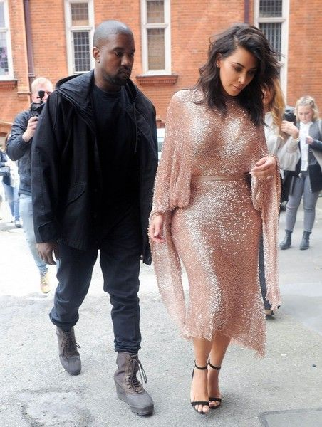 TV personality Kim Kardashian and hubby Kanye West attend The Vogue 100 Festival: Fashion, Friendship and Fabulous Lashes talk at Royal Geographical Society in London, England on May 21, 2016.