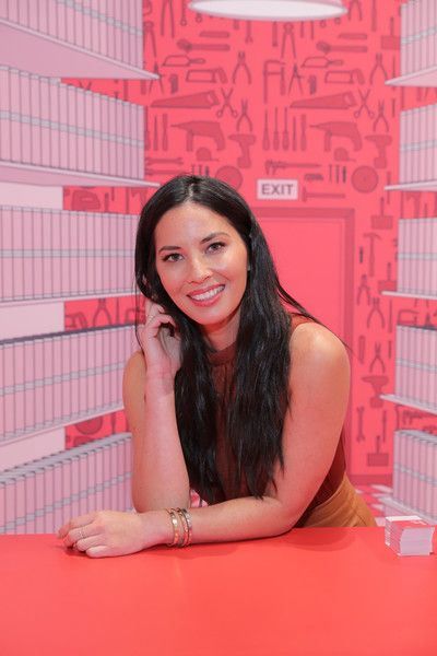 """Olivia Munn Celebrates Target's New Tribeca Store with Glam Sesh at """"Nail It Up"""" .Pop-Up in NYC on September 29, 2016 in New York City."""
