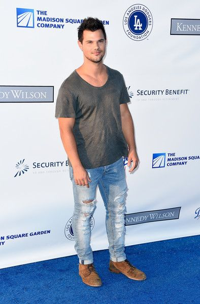 Taylor Lautner attends the Los Angeles Dodgers Foundation Blue Diamond Gala at Dodger Stadium.
