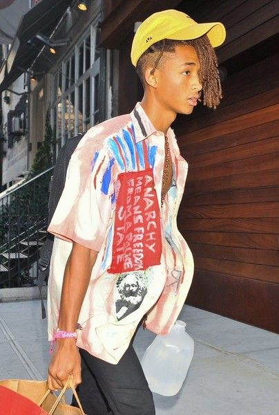 Jaden Smith and his girlfriend Sarah Snyder are spotted leaving Gigi Hadid's house.