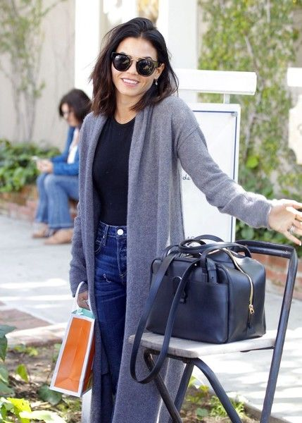 Actress Jenna Dewan-Tatum is all smiles while enjoying some solo shopping in Los Angeles.