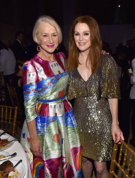 Helen Mirren and Julianne Moore attend the 25th IFP Gotham Independent Film Awards co-sponsored by FIJI Water on November 30, 2015 in New York City.