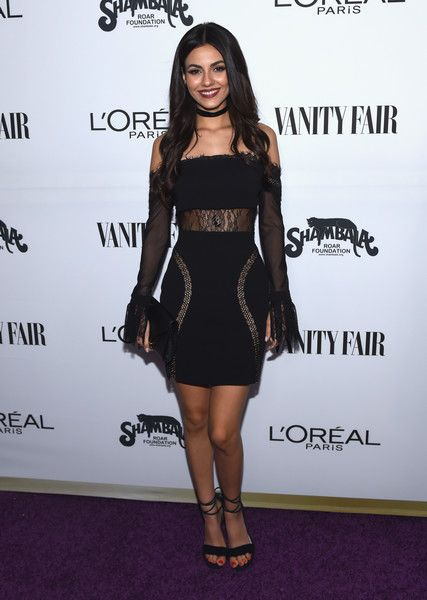 Actor Victoria Justice attends the Vanity Fair and L'Oreal Paris Toast to Young Hollywood.