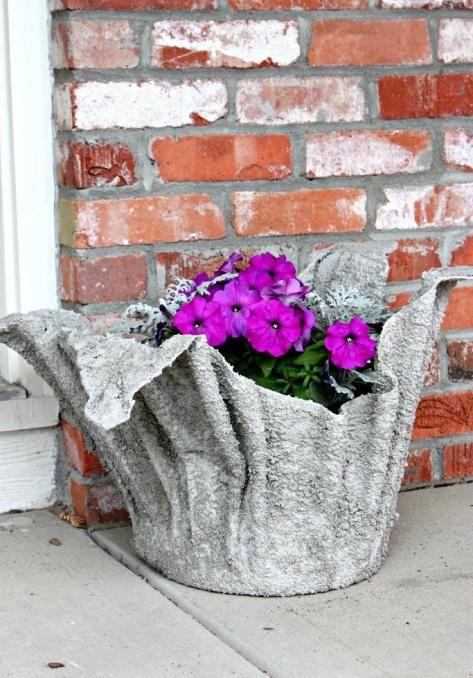 Кашпо для цветов уличные своими руками фото 42