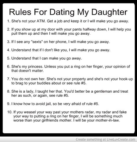 10 rules dating my son
