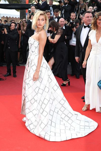 "Hailey Baldwin Photos Photos - Hailey Baldwin attends the ""The Beguiled"" screening during the 70th annual Cannes Film Festival at Palais des Festivals on May 24, 2017 in Cannes, France. - 'The Beguiled' Red Carpet Arrivals - The 70th Annual Cannes Film Festival"