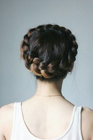 Wear A Crown Braid - Genius Hair Hacks from the Pros To Try This Holiday Season - Photos