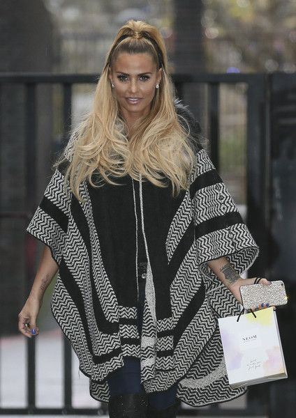 Model Katie Price leaves the ITV Studios.