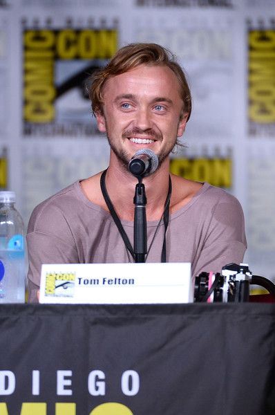 Actor Tom Felton attends 'The Flash' Special Video Presentation and Q&A during Comic-Con.