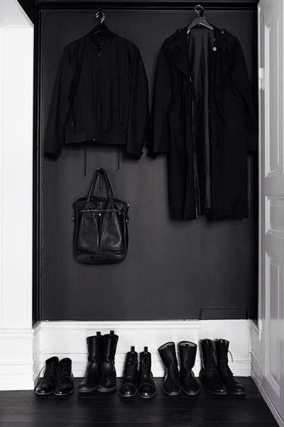 Ashy Entry - Our Favorite Dark Living Spaces - Photos
