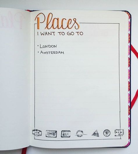 My list with places I want to go to ☺ I just started it and I'm sure I will add so much more places #journaling #journal #journalinspiration #layout #bulletjournal #bujo #bujojunkies #planneraddict #love #planner #daily #instadaily #art #artsy #insta #creative