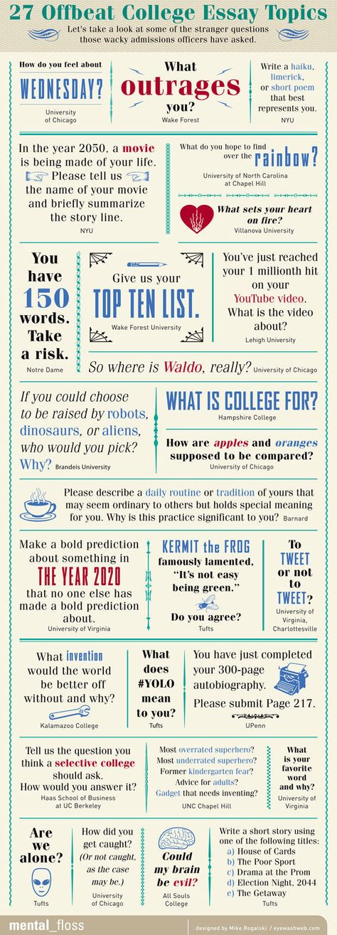 some topics for essays