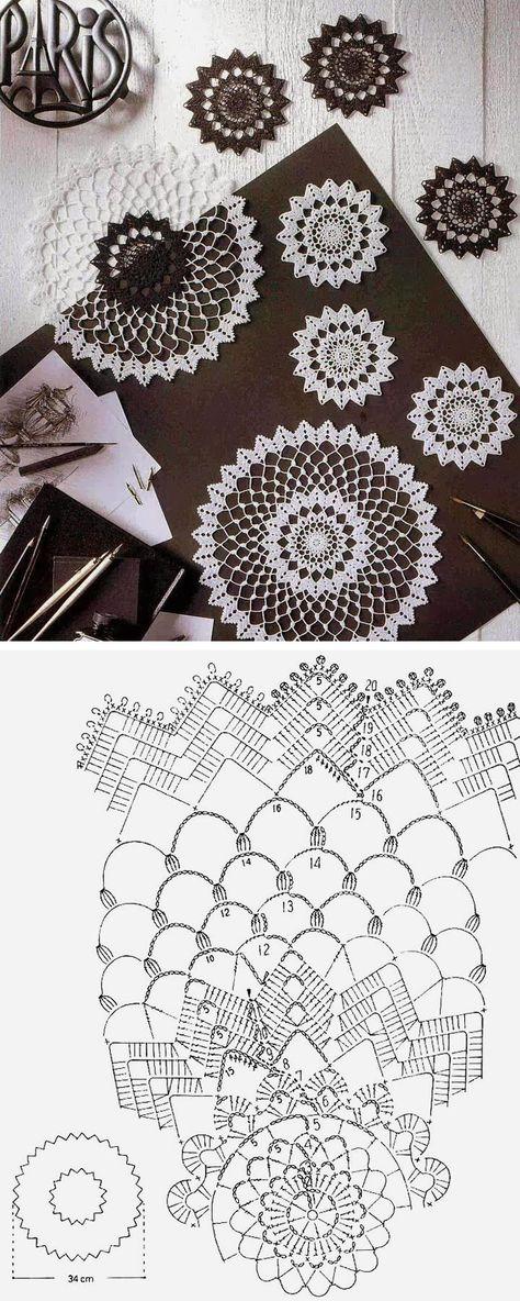 Схема вязания сферы крючком 91