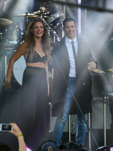Tove Lo and Nick Jonas are seen at 'Jimmy Kimmel Live' on April 28, 2016.