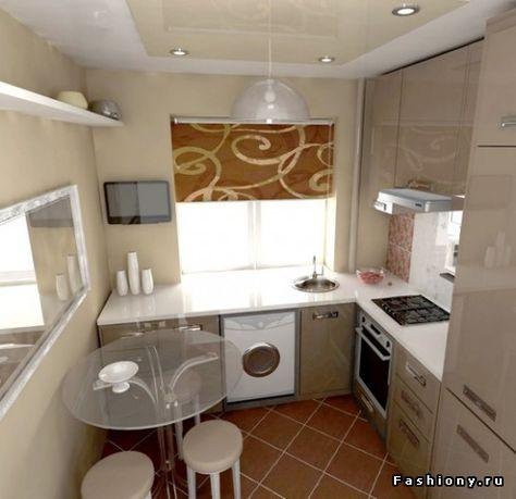 Фото дизайн интерьера малогабаритной кухни
