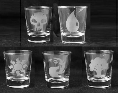 Magic the Gathering - Etched Shot Glass Set