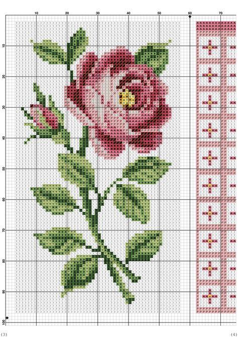Розы. схемы для вышивки крестом 716