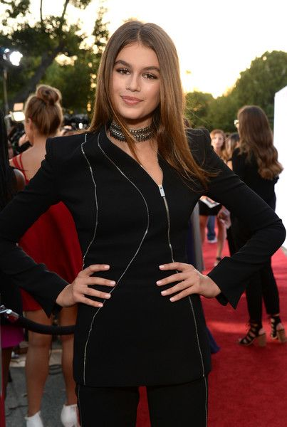 Actress Kaia Gerber attends the premiere of Lifetime's 'Sister Cities' at Paramount Theatre.
