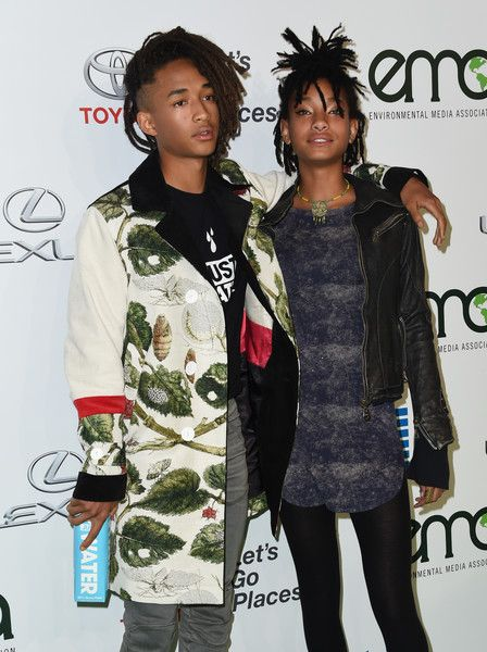 Jaden Smith and sister Willow Smith attend the 26th annual EMA Awards at Warner Bros studio lot in Burbank.
